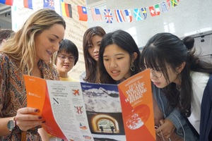 Except for information about the partner schools, students could also receive recommendations from the respective countries.(Images provided by Office of International Cooperation)